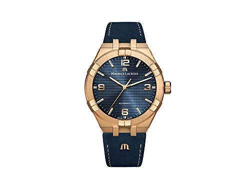 Maurice Lacroix Aikon Automatik Uhr, Bronze, 42 mm, Blau, AI6008-BRZ01-420-1-1
