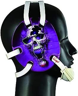 Geyi Wrestling Headgear with Purple fire Skull Decals
