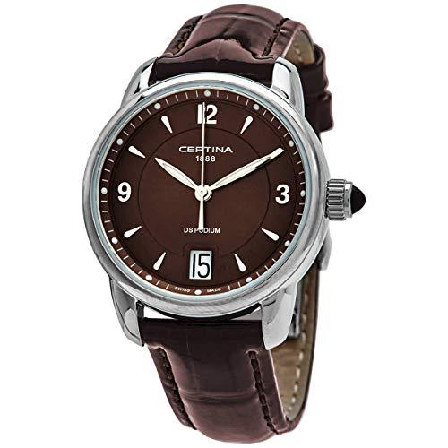 Certina Damen-Armbanduhr XS Analog Quarz Leder C025.210.16.297.00