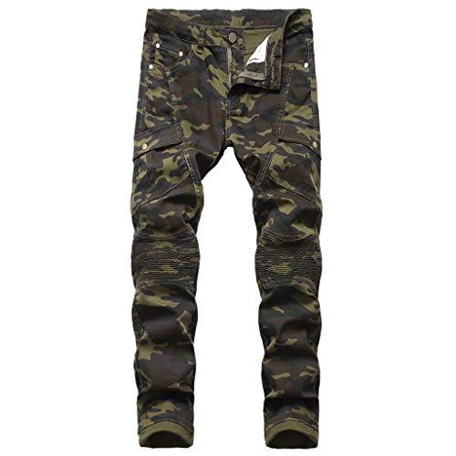 manadlian Pantalon Camouflage Homme Slim Fit Pantalon de Sport Long Pants Automne 2019 Sweat Pants Style de Moto Jogging Pants Cargo Chino Pantalons
