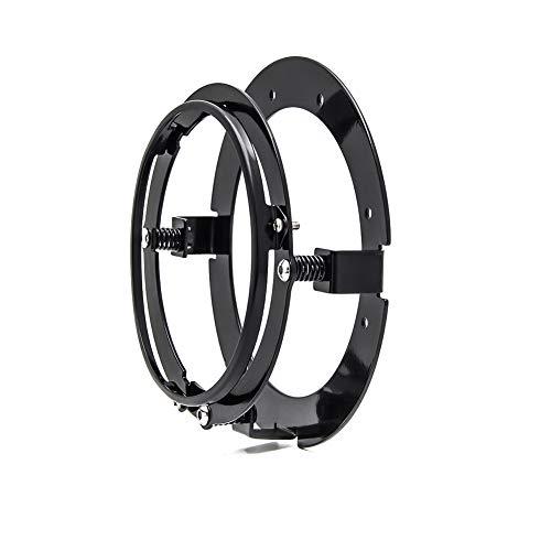 Autokun 5.75 Inch Round Headlight Motorcycle Mounting Bracket Ring Mount Brackets for Harley(Black)