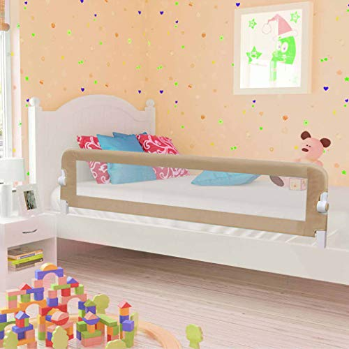 Tidyard- Barandilla de Seguridad para Cama Infantil para niños de 18 Meses a 5 años con Tela limpiable y Tubo de Metal Resistente y liviano