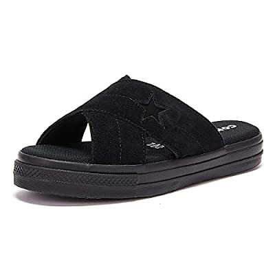 Converse Women's One Star Suede Slip Sandal Black, 8.5 M US
