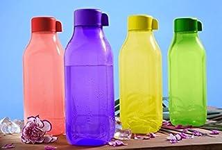 Tupperware TP-240-T500 Aquasafe Sports Water Bottle (Screw Top Square 500ml, 4 Pcs)
