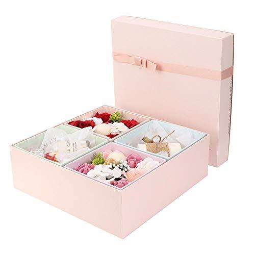 Denash Handgemachte Rose Soap Duftkerze Box Flower Soap Set Geburtstag Valentinstag Geburtstagsgeschenk