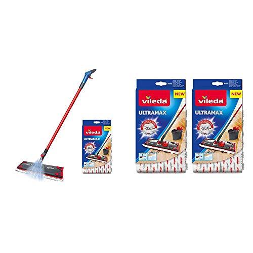 Vileda 1–2Spray flach Spray Mop Mopp/Nachfüllpack, rot