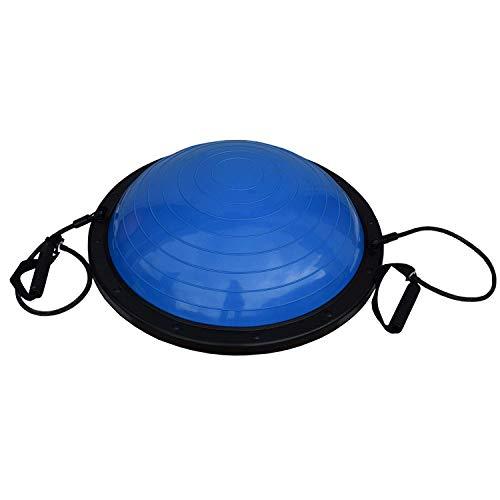 FitAndFun Pelota de Equilibrio Bola con Cuerdas Azul Resistencia Yoga Crossfit Entrenamiento Gimnasio Casa (Cod. SP5011)