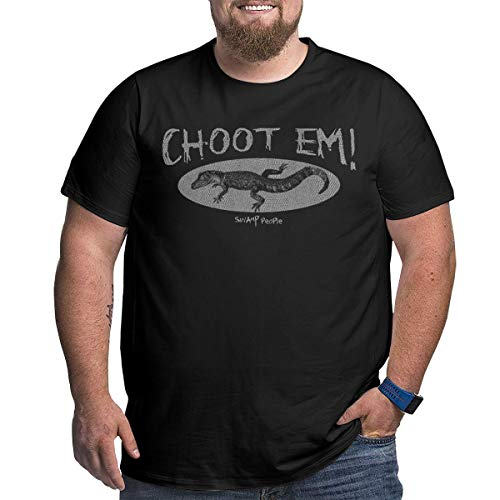 TicTicTok Choot'em Swamp People Men's Fashion Comfortable Big Size T-Shirts 4XL Black