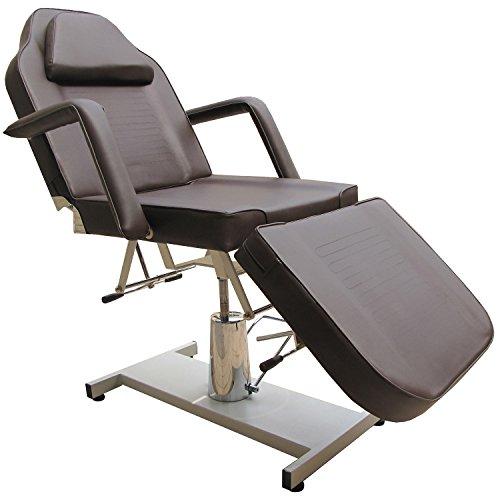 eyepower Mesa de Masaje 3 Zonas para estudio esteticista fisioterapeuta tatuajes depilación | camilla fija reclinable profesional banco de metal 10cm de acolchado | con agujero para la cara | apoyabrazos desmontables | peso soportado 250Kg | NUEVO | Marró