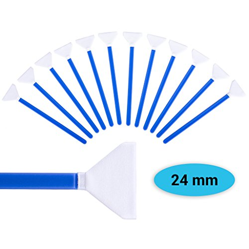 Lens-Aid Sensor Swabs zur Reinigung von Vollformat Kamera Sensoren: 12x Mikrofaser Cleaning Swab 24 mm in staubdichten Pack