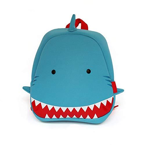Mochila Infantil Neopreno Tiburón para Niños Impermeable Ideal para la Guardería Mochilas Escolares niñas y niños Mochilas bebés guardería de 2 a 5 años Preescolar