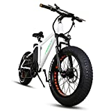 NAKTO Fat Tire Electric Bicycle Super Stable 300W Brushless Motor Ebike Three Working Mode 36V/10A Removable High Capacity Waterproof Lithium Battery Electric Bike