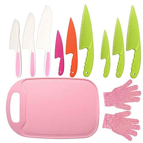 11Pcs Kids Plastic Knife Set,BPA-Free Children