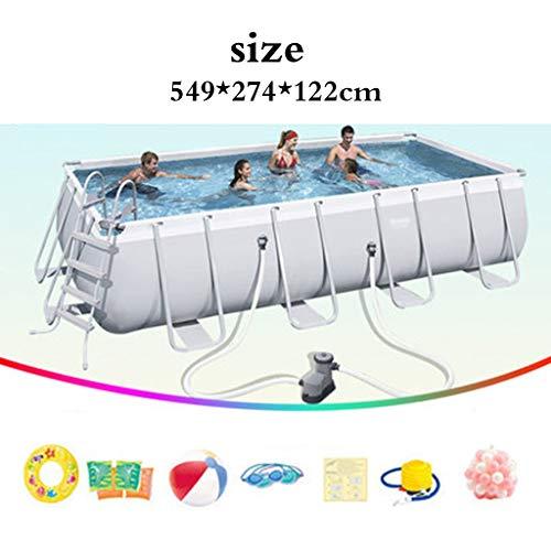 Piscinas Párese Adulto casa Infantil Estanque de Peces Exterior Gran Infantil Grande (Color : Blanco, Size : 549 * 274 * 122cm)