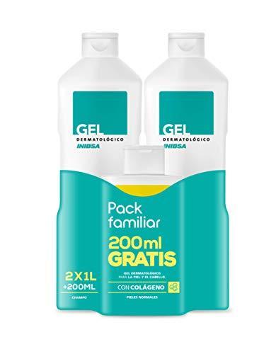 Geles Inibsa 2 Geles Dermatológicos 1000 ml + Champú 200 ml - 1 Pack