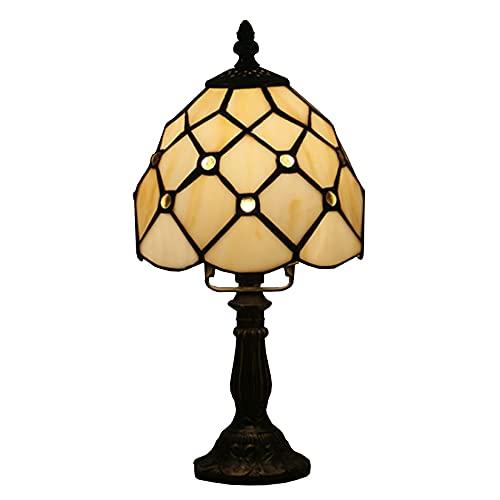 Lámpara De Acento De Estilo Tiffany Tiffany De 6 Pulgadas, Sala De Estar De La Sala De Estar De La Sala De La Sala De La Mesa De La Lámpara De Mesa Barroca