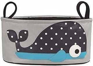 SKEIDO Baby Stroller Storage Bag Accessories Diapers Organizer, Whale