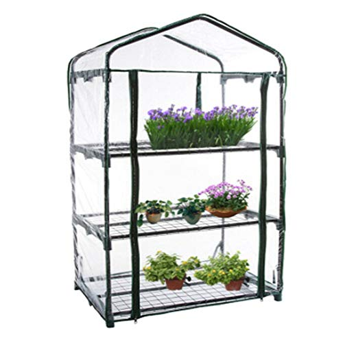 FANTESI Mini Greenhouse Flowers in Any Season-Gardening Rack Cover Portable Garden Green House with Window(M)