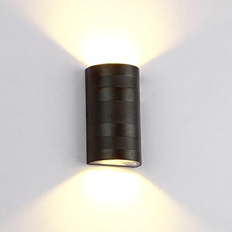 StiefelU LED Wandleuchte nach oben und unten Wandleuchten Wandleuchte wasserdichte Aluminium Wohnzimmer Wand Lampen outdoor Gang Schlafzimmer bedside Led, 12w, WARM-WEISS