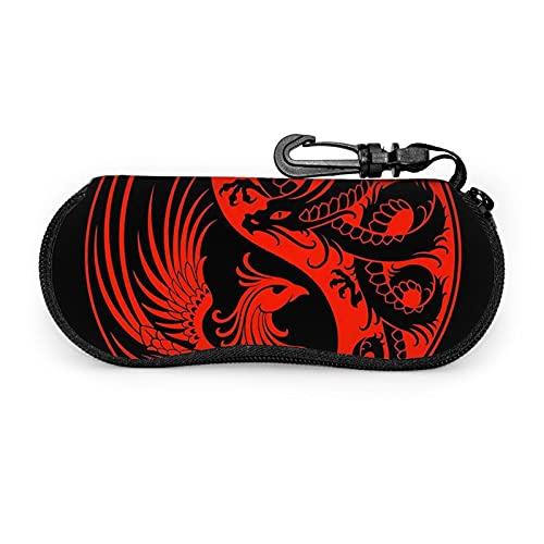 Funda de gafas de sol de Dragon And Phoenix con cremallera para hombres y mujeres