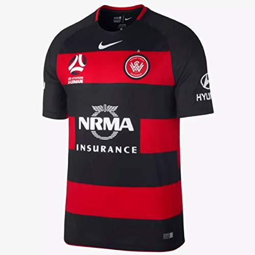 Nike Western Sydney Warriors FC - Camiseta de fútbol para Hombre (2017-2018), Hombre, Rojo y Negro, Hombres L