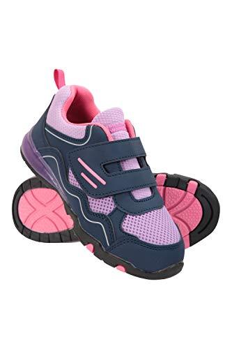 Mountain Warehouse Chaussures pour Enfants Light Up - Durables, légères, Respirantes, Scratches - Marche et Voyage cet été Rose 25.5