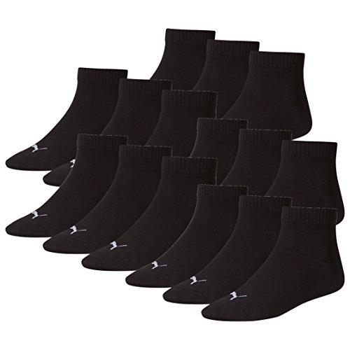 PUMA Unisex Quarter Socken Sportsocken 15er Pack black 200 - 43/46