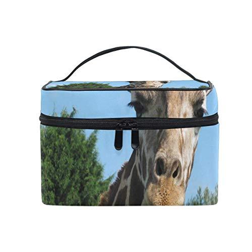 Trousse de maquillage Giraffe Cute Cosmetic Bag Portable Large Toiletry Bag for Women/Girls Travel