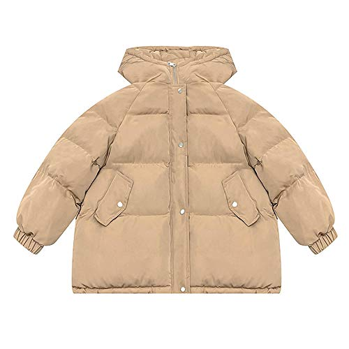 CVMFE Chaqueta de plumón para hombre, con capucha, acolchada, de algodón Color caqui. M