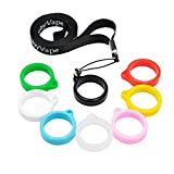 CENGLORY Silicone Vape Anti Slip Rubber Rings Vape Bands Necklace Lanyard Anti-Loss Pendant Holder for 22-30mm Tank Mechanical Mods Atomizer Pen,Home Decor (1Pcs Black Lanyard+8Pcs Silicone Bands)