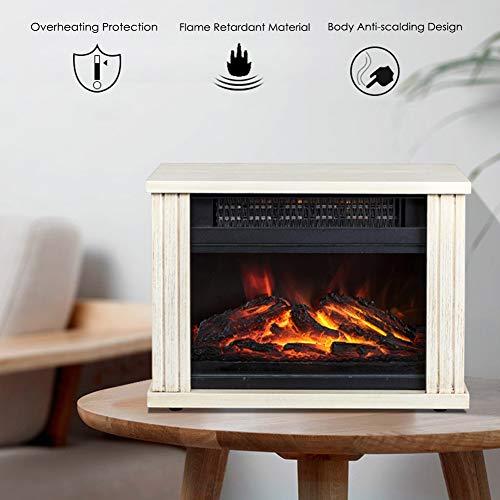 Elektrische open haard met ventilatorkachel, 1500 watt, led-kacheleffect, 3D-vlammeneffect, kachel, geluidsarm regelbaar