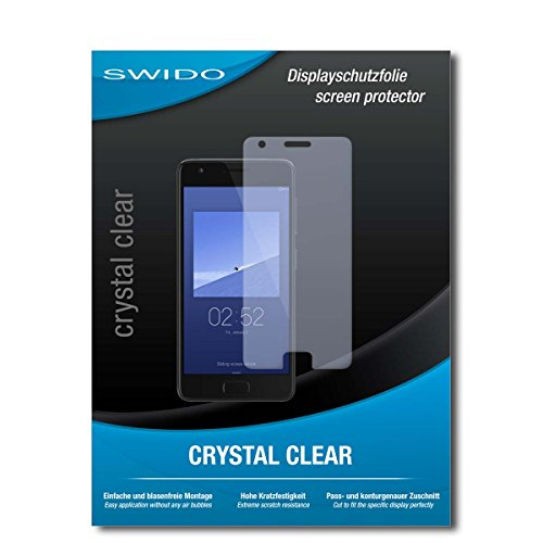 SWIDO Schutzfolie für Lenovo ZUK Z2 [2 Stück] Kristall-Klar, Hoher Festigkeitgrad, Schutz vor Öl, Staub & Kratzer/Glasfolie, Bildschirmschutz, Bildschirmschutzfolie, Panzerglas-Folie
