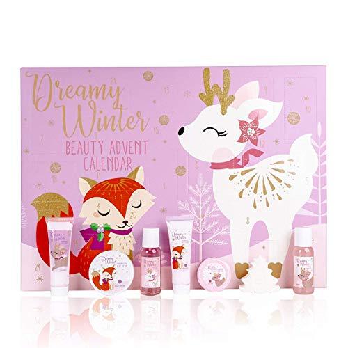 Adventskalender 2020 Beauty zum Baden   Weihnachtskalender mit Duschgel, Badekugeln, Badezusatz Pflege und Bade-Produkten   Stylischer Kalender mit Inhalt Geschenk-Ideen für Mädchen Teenager Frauen