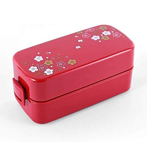 Bento Eindecker im japanischen Stil Lunch Box, Mikrowelle, Separate Lunchbox mit Besteck und Mittagessen-Beutel for Studenten und Erwachsene, Bento-Styled Mittagessen Lösung bietet Durable