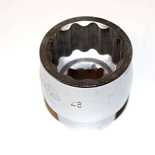 Steckschlüsseleinsatz Stecknuss Zwölfkant 1 zoll 25 mm Antrieb. Schlüsselweite SW 46 mm CV-Stahl sehr gute Qualität. WGB, 10 Jahre Garantie. Metrische 12 kant Nuss Steckschlüssel Zwölfkantnuss