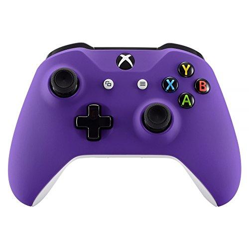 eXtremeRate Cover Copertura Frontale Joystick Custodia Anteriore Soft Grip Scocca Ricambio per Xbox One S X Controller Model 1708(Viola)