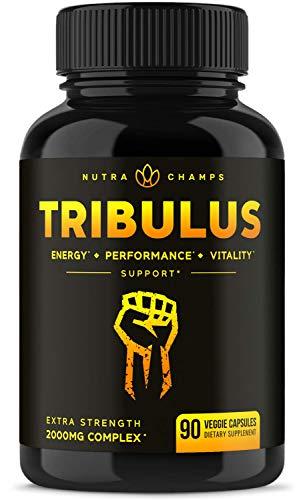 Tribulus Terrestris 2000mg Supplement [Extra Strength] 45% Steroidal Saponins - Enhanced Absorption with Maca Powder & Black Pepper Extract - Tribulus Terrestris for Men & Women - 90 Vegan Capsules