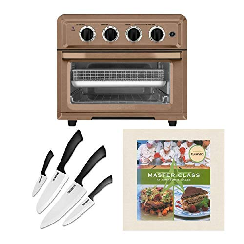Cuisinart TOA-60 Convection Toaster Air Fryer with 4-Piece Knife Set and Master Class Cookbook Bundle (3 Items)