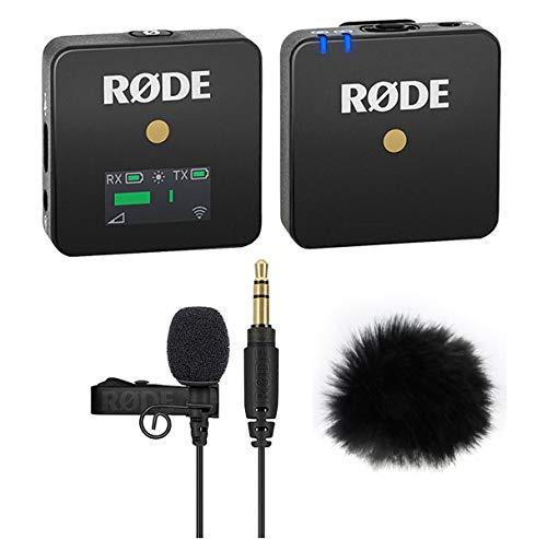 Rode WIGO Wireless GO Mikrofon-Funksystem + Lavalier GO Ansteckmikrofon + keepdrum Fell-Windschutz