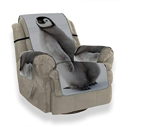 JOCHUAN Emperor Penguin Chicks Animal Deck Chair Slipcover Arm Sofa Covers Folding Chair Slipcover Furniture Protector for Pets, Kids, Cats, Sofa