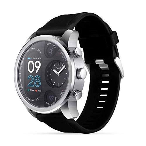 YUJY Smartwatch Dual Display Ip68 wasserdichte Smartwatch Herren 15 Tage Standby Herzfrequenzmesser Smartwatch Fitness Tracker Gesundheit Armband Schwarz