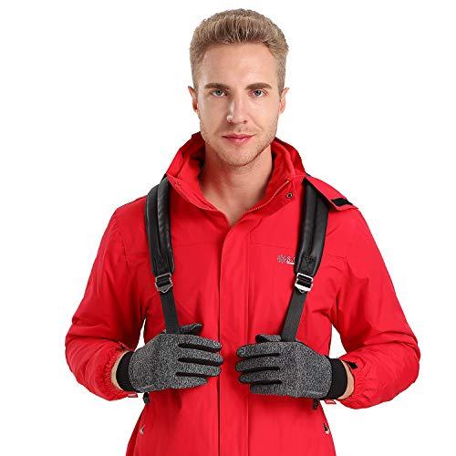 Anqier Handschuhe Herren Damen Touchscreen Fahrradhandschuhe Winter Winddicht Winterhandschuhe Outdoor zum Laufen Wandern Reiten Bergsteigen - 5