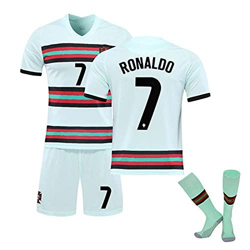 GYLMXF Portugal Away Jersey 7# Ronaldo tröja, vuxen/barn kortärmad shorts strumpa G
