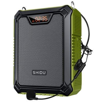 SHIDU 25W Amplificador de voz con micrófono con cable, petaca Portátil Impermeable...