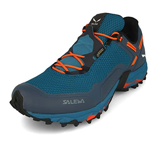 Salewa MS Speed Beat Gore-TEX, Zapatillas para carrera de senderos Hombre, Azul (Premium Navy/Spicy Orange), 44 EU