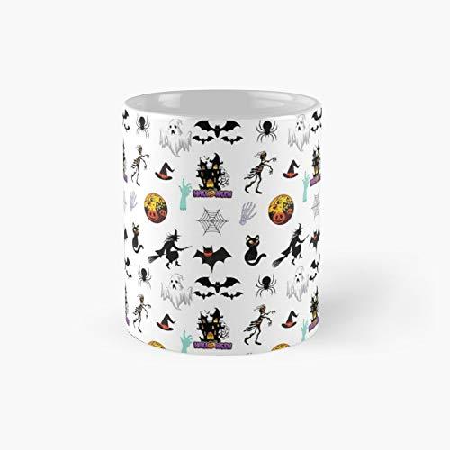 Taza clsica de Halloween Stuff Pack | El mejor regalo divertidas tazas de caf de 325 ml