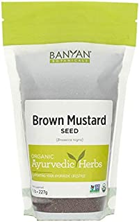 Banyan Botanicals Brown Mustard Seed - USDA Organic - Heating Spice That Promotes Healthy Digestion - Brassica juncea