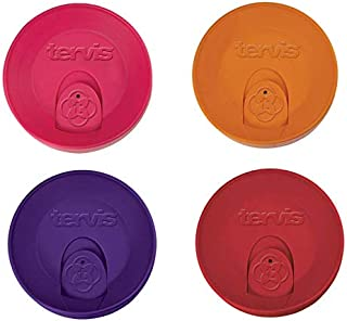 Tervis Travel Lid for 24 oz Tumbler and Mug, Royal Purple, Orange, Red & Fuchsia 4-Piece Set