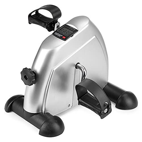 Ejercitador de pedales con pantalla digital Mini bicicleta estática debajo del escritorio Equipo portátil para entrenamiento de brazos para piernas en casa Bicicleta para ejercicios en casa