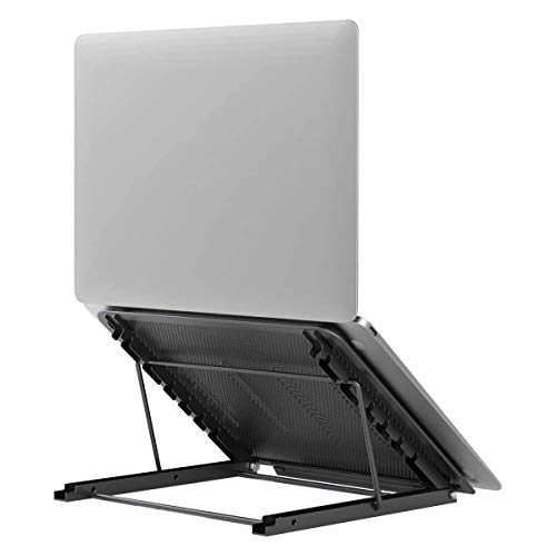 Laptop Tablet Stand, Foldable Portable Ventilated Desktop Laptop Holder, Universal Lightweight Adjustable Ergonomic Tray Cooling